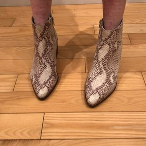 Seychelles, faux snake skin leather ankle boots